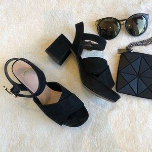 Zara Suede Block Heels